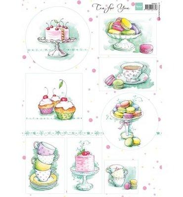 VK9557 - Knipvel - Marianne Design - Tea for You 2
