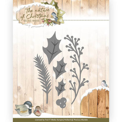 PM10103 Die - Precious Marieke - The nature of Christmas - Christmas Florals