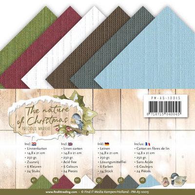 PM-A5-10015 Linnenpakket - A5 - Precious Marieke - The Nature of Christmas
