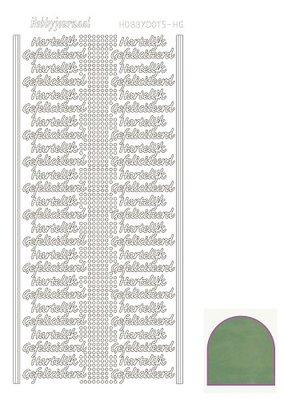 Hobbydots stickers serie Hartelijk Gefeliciteerd compleet (22 stickervellen)
