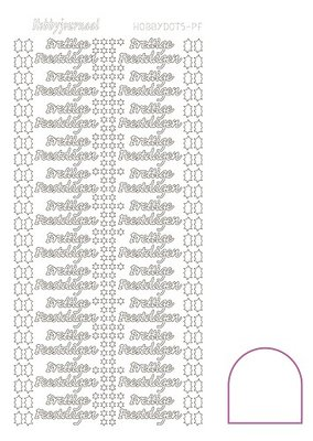 Hobbydots stickers serie Prettige Feestdagen compleet (22 stickervellen)