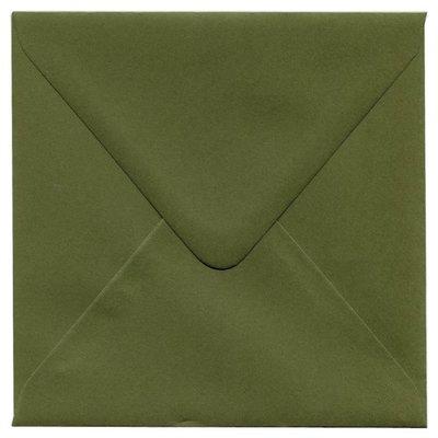 Enveloppen vierkant 14x14 10 stuks Mosgroen 120 grams