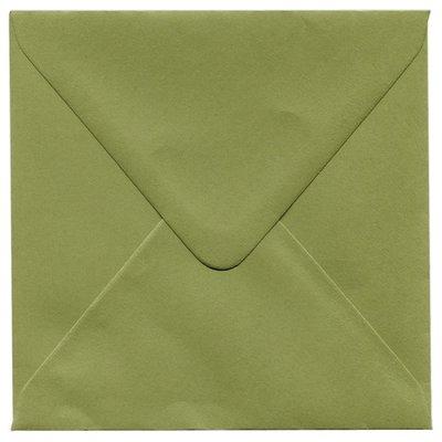 Enveloppen vierkant 14x14 10 stuks Olijfgroen 120 grams