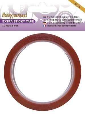 HJSTICKY06 Hobbyjournaal - Extra Sticky Tape - 6 mm