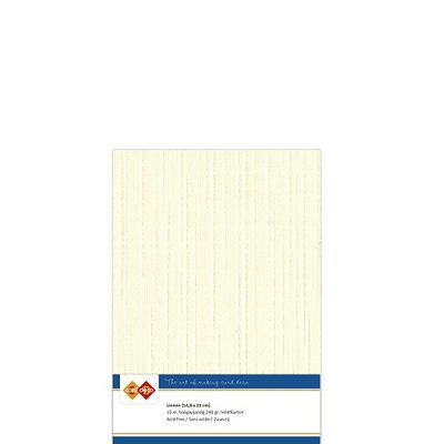 02 Card Deco Linnen A5 10 vel Creme 240grm