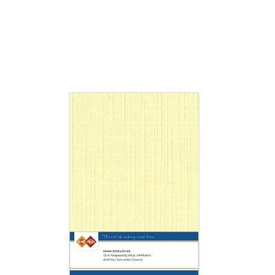 03 Card Deco Linnen A5 10 vel Lichtgeel 240grm