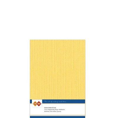 05 Card Deco Linnen A5 10 vel Oker 240grm