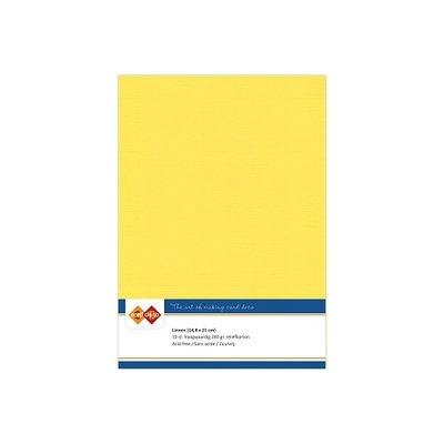 06 Card Deco Linnen A5 10 vel Kanarie Geel 240grm