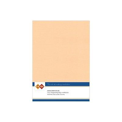 09 Card Deco Linnen A5 10 vel zalm 240grm