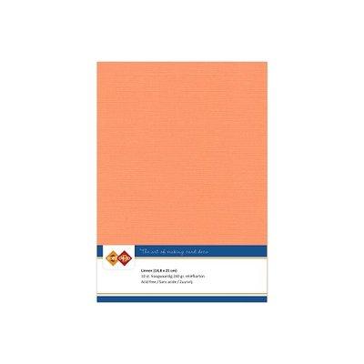 10 Card Deco Linnen A5 10 vel Zachtoranje 240grm