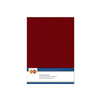 14 Card Deco Linnen A5 10 vel Bordeaux 240grm