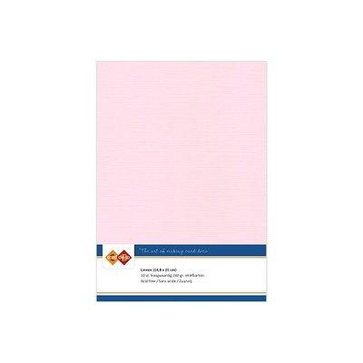 15 Card Deco Linnen A5 10 vel Licht Roze 240grm