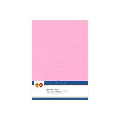 16 Card Deco Linnen A5 10 vel Roze 240grm