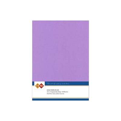 17 Card Deco Linnen A5 10 vel Lila 240grm