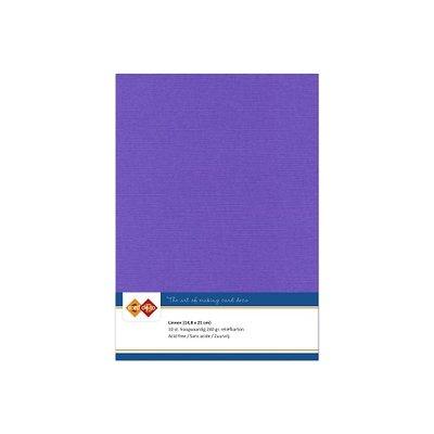 18 Card Deco Linnen A5 10 vel Violet 240grm