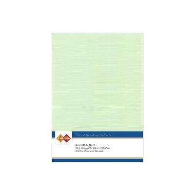 19 Card Deco Linnen A5 10 vel Licht Groen 240grm