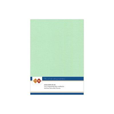 20 Card Deco Linnen A5 10 vel Middengroen 240grm