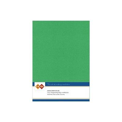 22 Card Deco Linnen A5 10 vel Groen 240grm