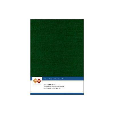 23 Card Deco Linnen A5 10 vel Kerstgroen 240grm