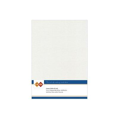 24 Card Deco Linnen A5 10 vel Lichtgrijs 240grm