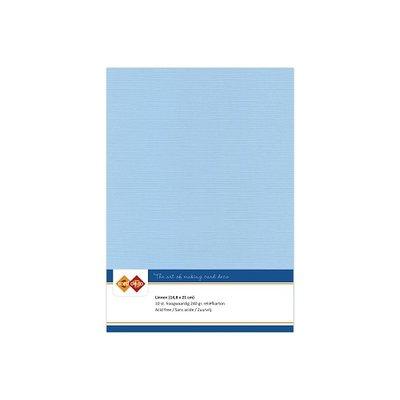 26 Card Deco Linnen A5 10 vel Zachtblauw 240grm