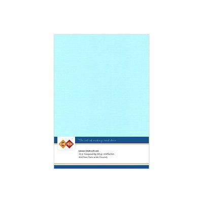28 Card Deco Linnen A5 10 vel Licht Blauw 240grm