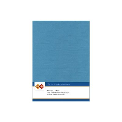 40 Card Deco Linnen A5 10 vel Turquoise 240grm