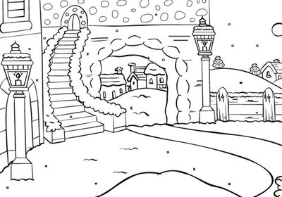 PIF004 Nellie Snellen - Embossing Folder - Picture Folder - Snow Stairs - 106x150mm