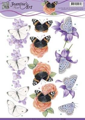 CD10931 - 3D Knipvel - Jeanine's Art - Butterfly