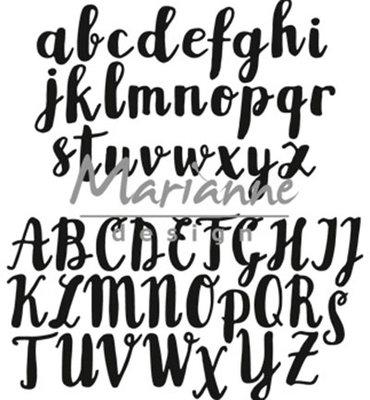 CR1416 - Marianne Design - Craftables - Brush Alphabet