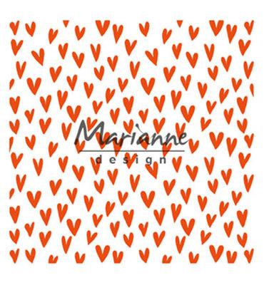 DF3438 - Marianne Design - Design Folder - Trendy Hearts - 150x150mm