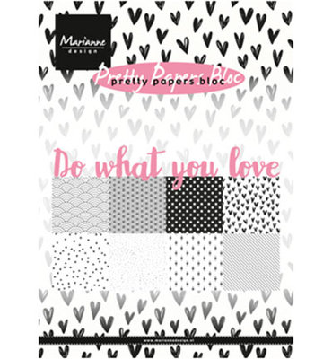PK9149 - Marianne Design - Pretty Papers Bloc - Do what you love - A5