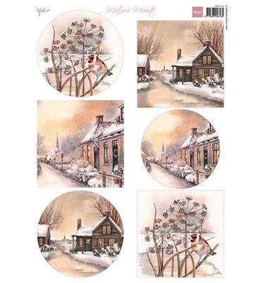 MB0169 - 3D Knipvel - Marianne Design - Mattie - Mooiste Winter Villages