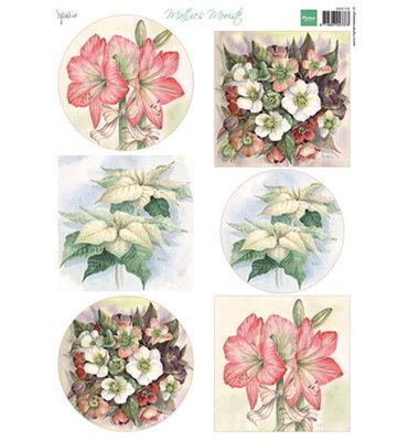 MB0168 - 3D Knipvel - Marianne Design - Mattie - Mooiste Christmas Flowers