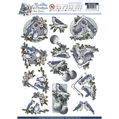 SB10190 – Pushout - Amy Design - The feeling of christmas - Christmas birds