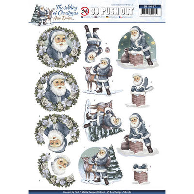 SB10187 – Pushout - Amy Design - The feeling of Christmas - Santa claus