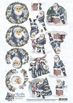 CD10921 – 3D Knipvel - Amy Design - The feeling of Christmas - Santa Claus