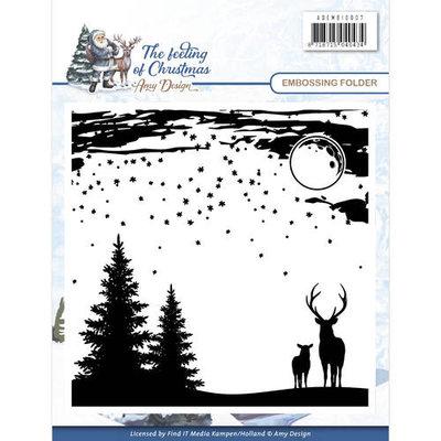 ADEMB10007 Embossingfolder -Amy Design - The feeling of Christmas