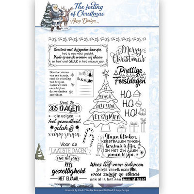 ADCS10018 Clear Stamp - Amy Design - The Feeling of Christmas  – Tekst