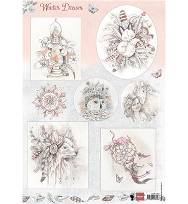 EWK1252 - 3D Knipvel - Marianne Design - Winter Dream pink