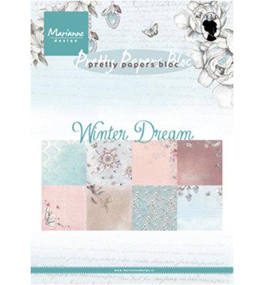 PK9150 - Marianne Design - Pretty Papers Bloc - Winter Dream - A5 - 4x8 designs
