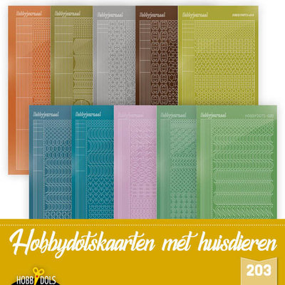 Hobbydols 203 - Stickerset