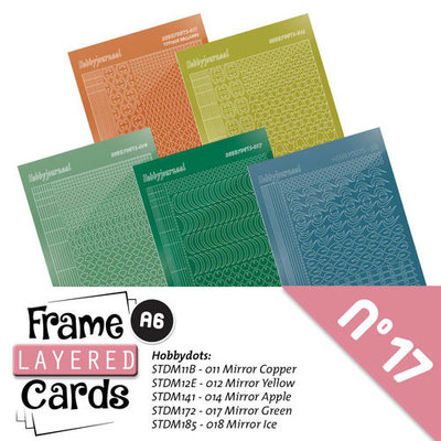 Layered Frame Cards 17 - Stickerset