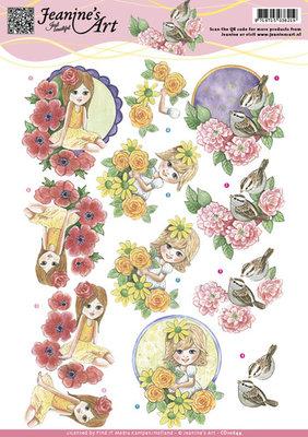 CD10844 - 3D Knipvel - Jeanine`s Art - Spring Flowers