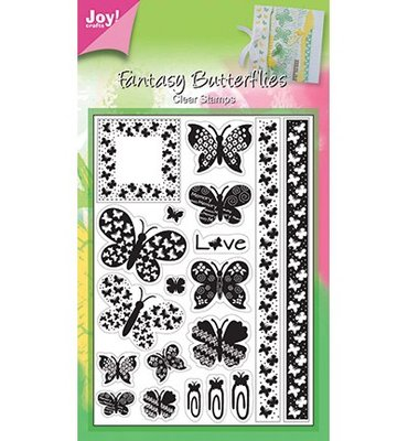 6410/0036 Joy Crafts - Clear Stamps - Fantasy Butterflies - 105x148 mm