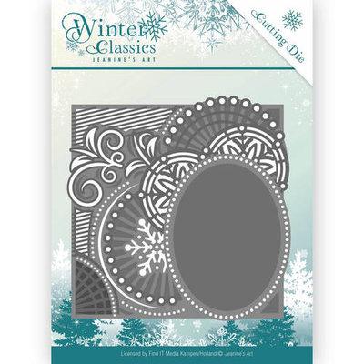 JAD10016 – Die - Jeanine's Art - Winter Classics - Curly Frame