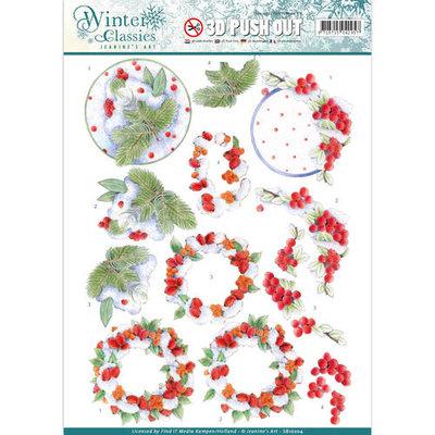 SB10204 – Jeanine's Art - Winter Classics - Winterberries - 3D Push Out
