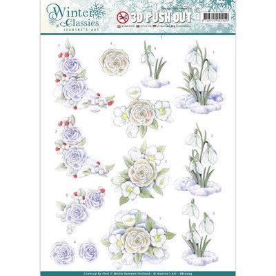 SB10203 – Jeanine's Art - Winter Classics - Snow flowers - 3D Push Out
