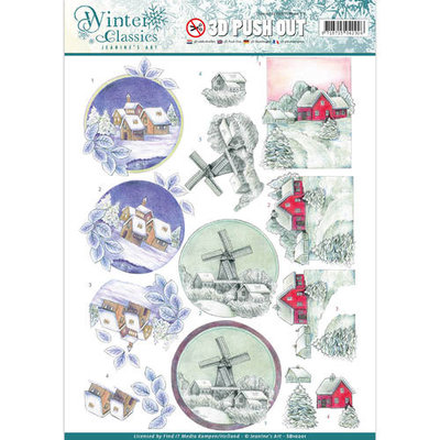 SB10201 – Jeanine's Art - Winter Classics - Christmas landscapes - 3D Push Out