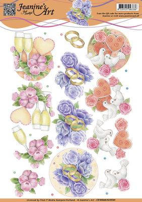 CD10980 – 3D knipvel – Jeanine`s Art – Wedding